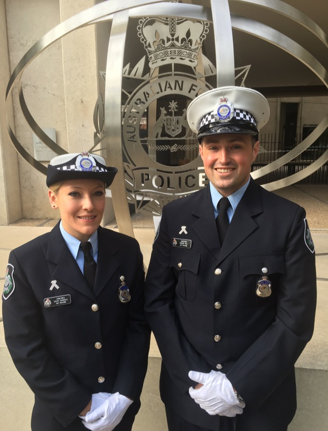 Two AFP recruits on their graduation day.
