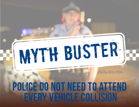 Police do not need to attend every vehicle collision