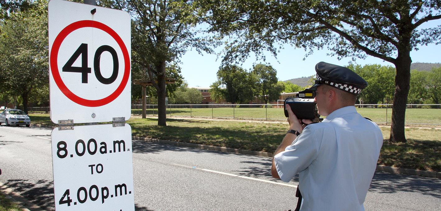 Slow down in school zones