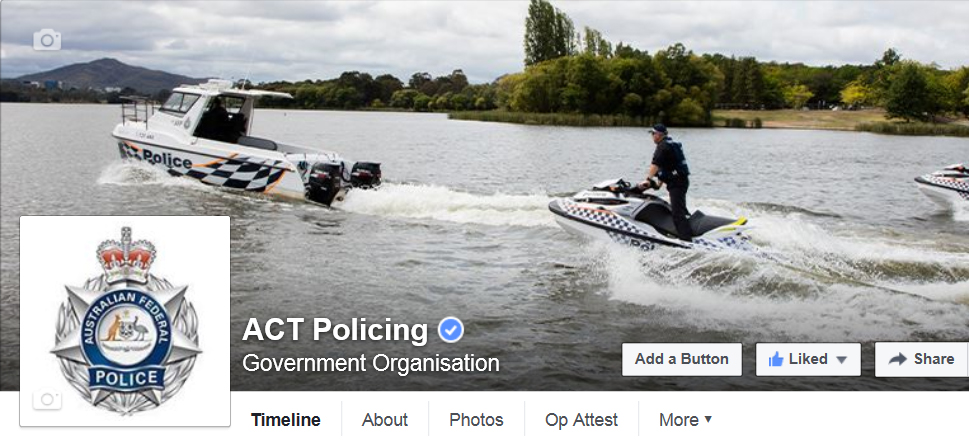 ACt Policing Facebook page
