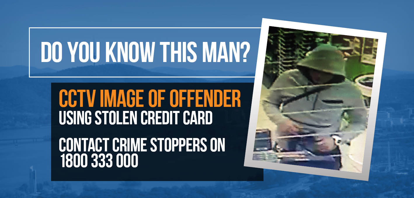 Do you know this man? CCTV Image of offender using stolen credit card
