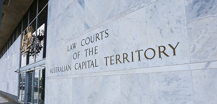 Image of the front of the law courts of the ACT