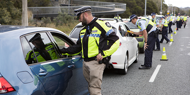 Police test drivers over Easter