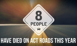 Eight people have died on ACT roads this year