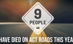 Nine people have died on ACT roads this year