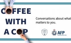 Molonglo residents encouraged to join police for a Coffee with a Cop.