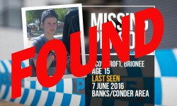 Missing teen Brionee Scowcroft, now located safe and well