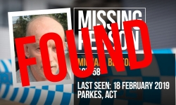 UPDATE Great news Canberra! Michael Beaton has been found safe and well. FOUND