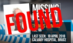 Update: Missing person Thomas Brimage has been found safe and well.