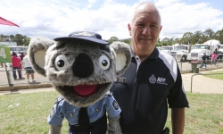 Constable Kenny Koala and his handler Stewart Waters