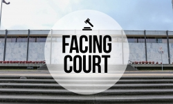 Facing court