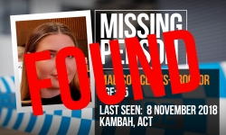 MP Madison Clews-Proctor FOUND