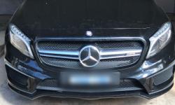 A black Mercedes GLA45 was seized.
