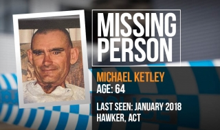 Police seek assistance to locate missing man Michael Ketley.